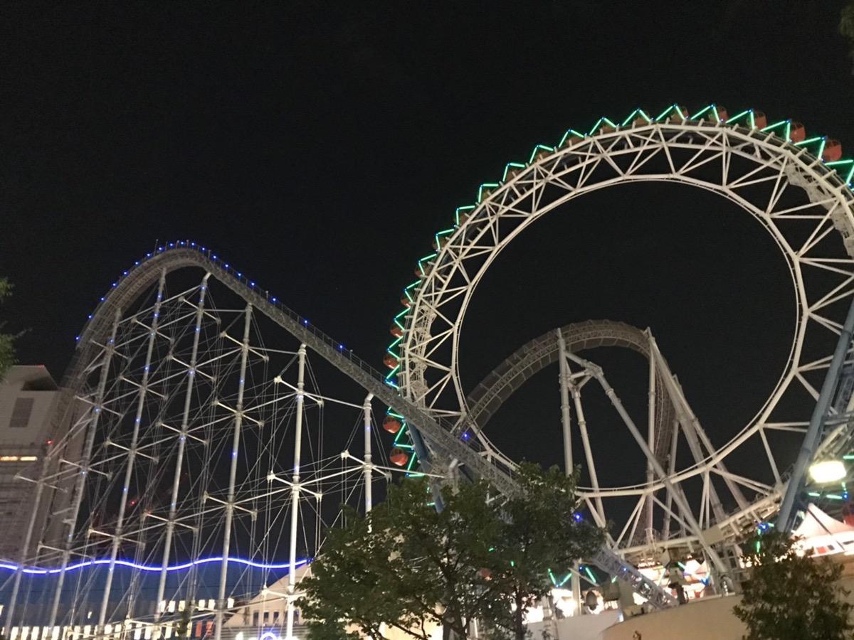【スタッフブログ】夜の遊園地にて